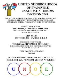2015 UNOE Candidates Night Poster