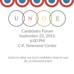 Unoe Candidates Forum